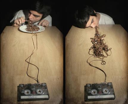 Music is like dinner...
