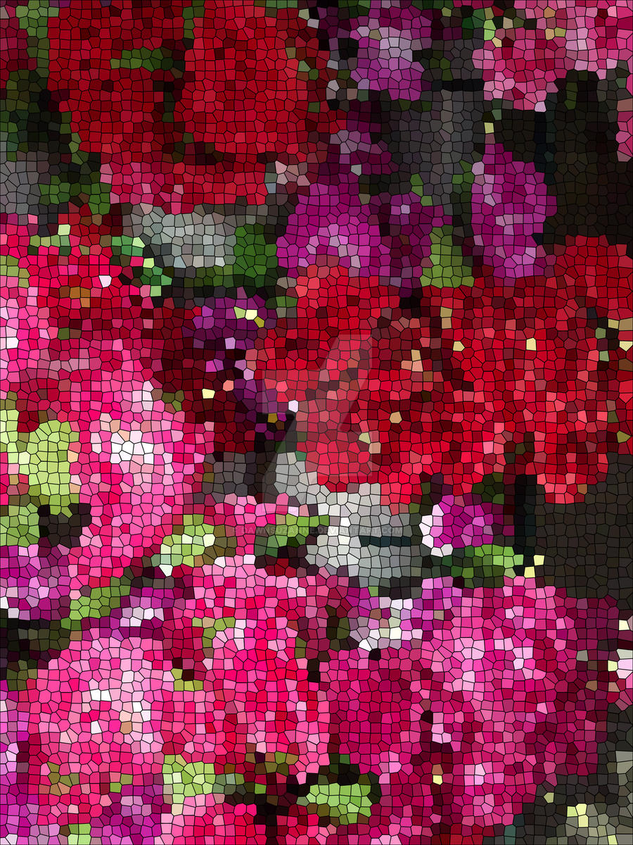 MOSAIC ROSES 1 by Dawnsuzanne