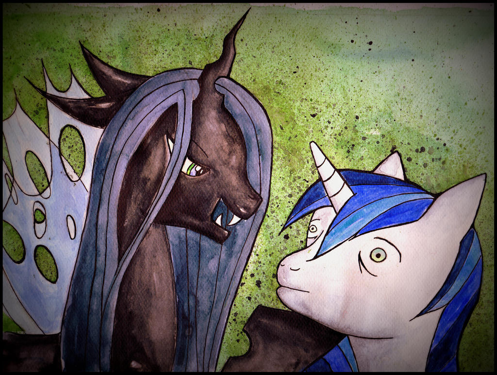 queen chrysalis and shining armour by rattengoettin-d6kaqr2 jpgQueen Chrysalis And Shining Armor