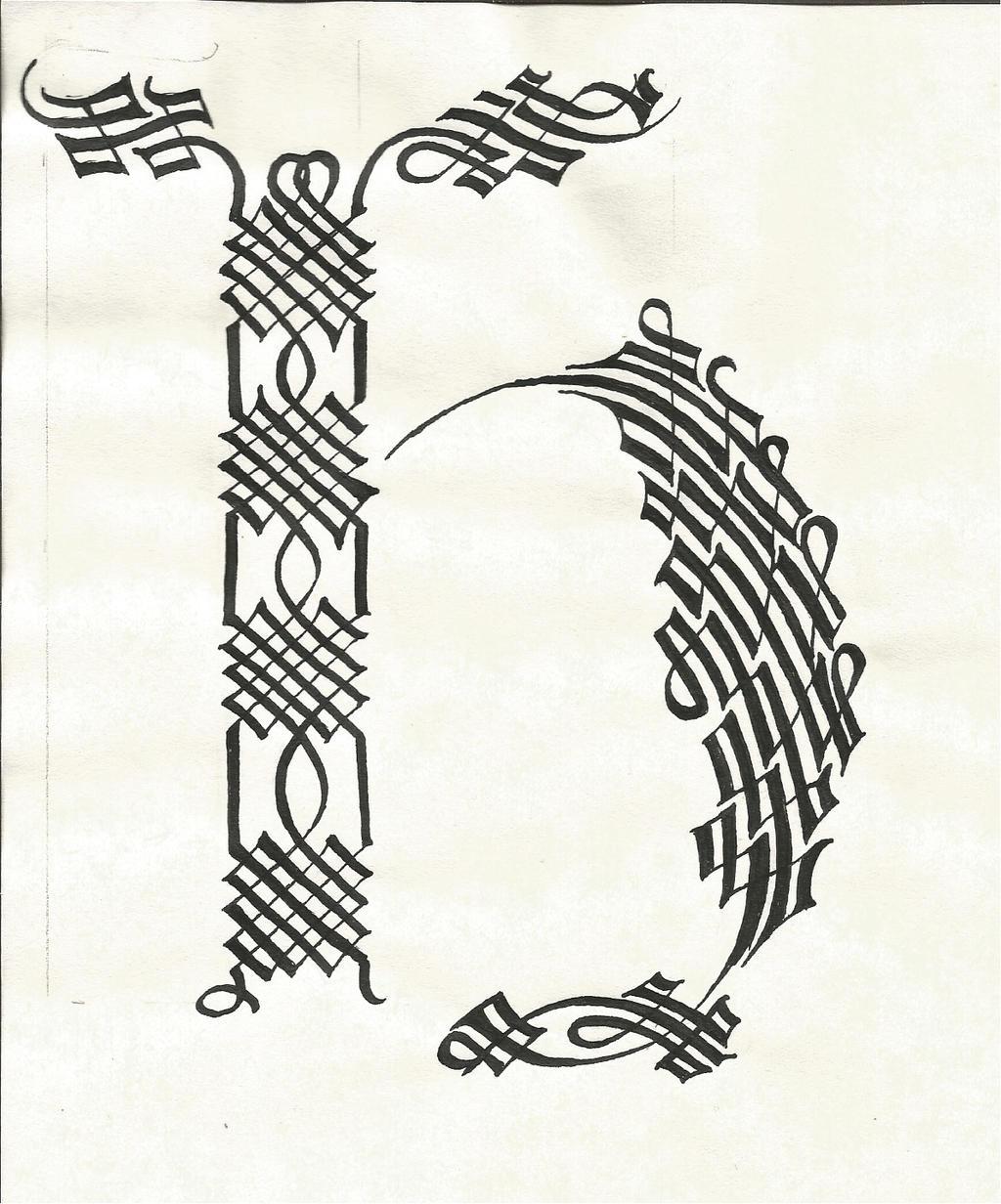 Calligraphy H By Septaliger On Deviantart