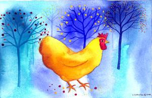 Golden Hen by TootieFalootie