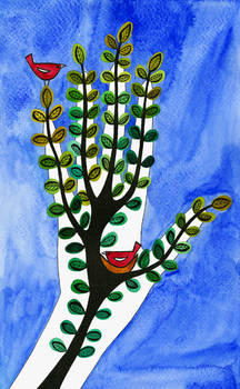 Green Fingers Painting