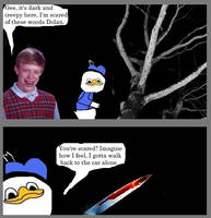 Bad Luck Brain with Dolan the duck by Kesdiodrick