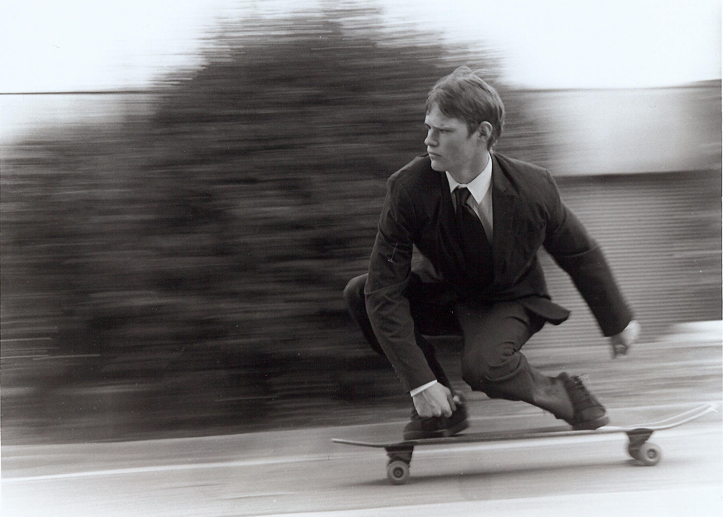 skateboarding businessman by sonofdirk