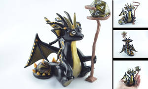 black and gold wizard dragon - for sale