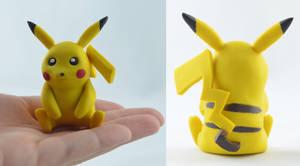 Handmade Pikachu by claymeeples