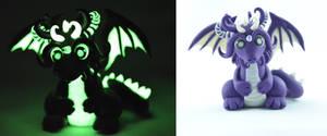 purple glow in dark dragon