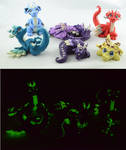 glow in dark dragon family