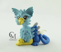 Blue Griffin Figurine by claymeeples
