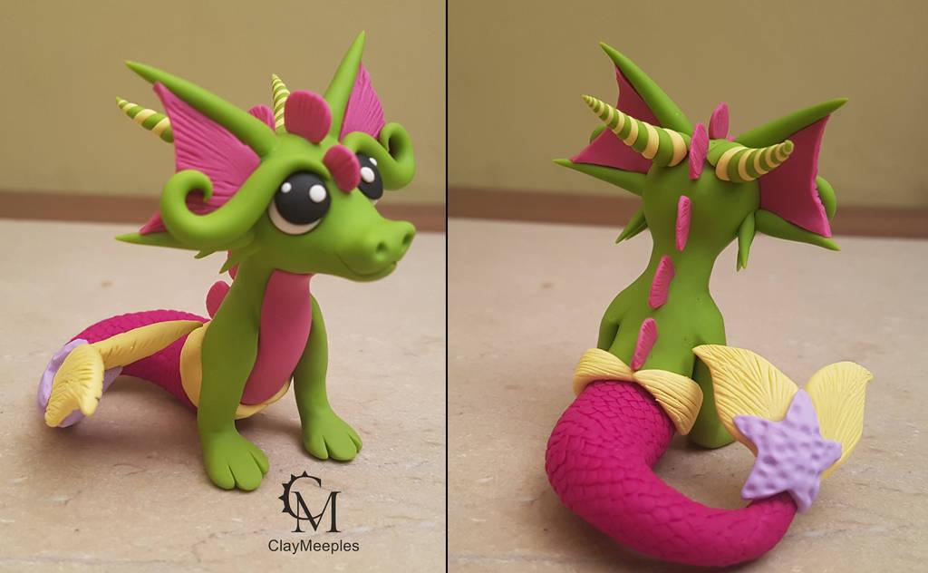 Dragon Mermaid Princess by claymeeples