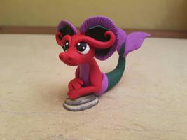 Mermaid Dragon Sculpture by claymeeples