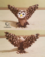 Clay Owl Sculpture by claymeeples