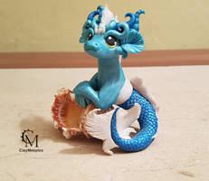 blue mermaid dragon by claymeeples