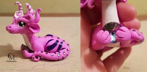 Pink gem  dragon by claymeeples