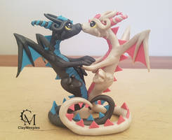 dragon couple and I'm back by claymeeples