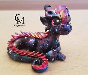 Pink Galaxy Dragon by claymeeples