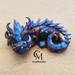 baby galaxy dragon by claymeeples