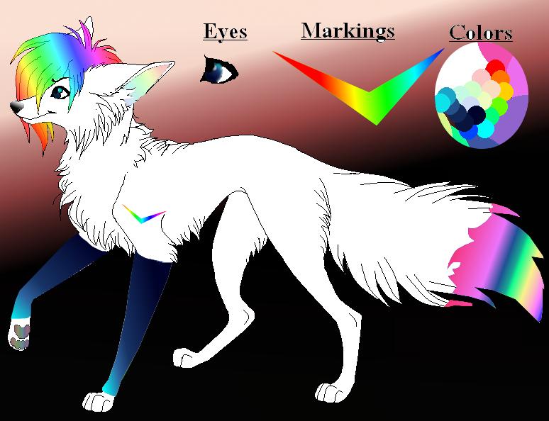 Rainbow Wolf!! By Fantasygirlartist124 On DeviantArt
