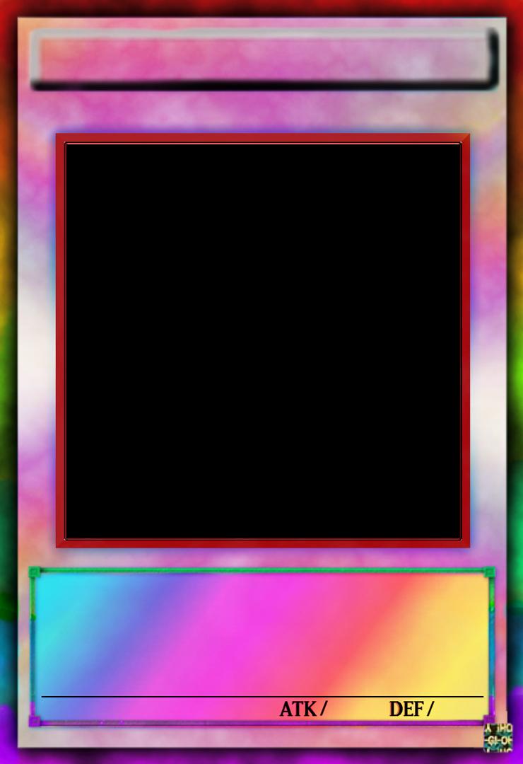 Yu-Gi-Oh! Card Template V13 (Hard Rainbow) by GraysoGoodwn on DeviantArt