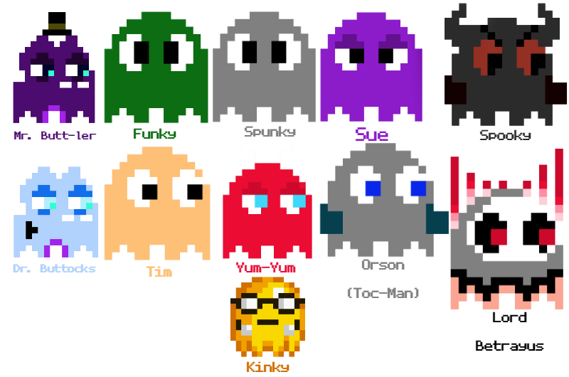 Pacman Ghost Png