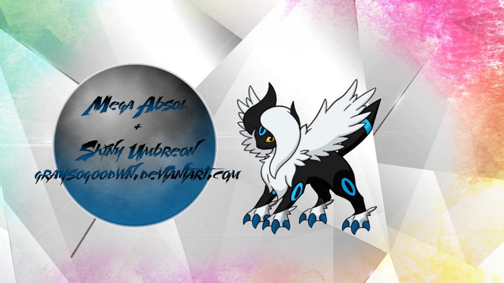 Mega Absol + Shiny Umbreon Fusion by GraysoGoodwn