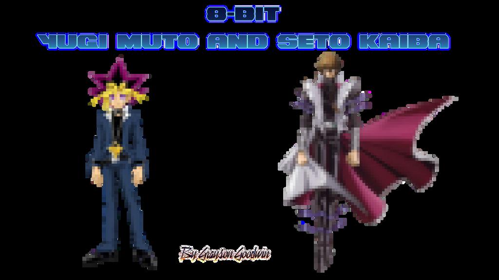 8-bit Yugi Muto and Seto Kaiba by GraysoGoodwn