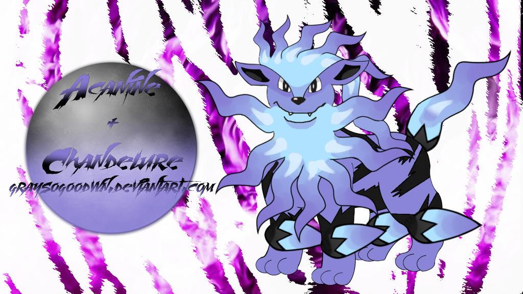 Arcanine + Chandelure Pokemon Fusion by GraysoGoodwn