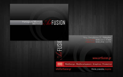 My new n shiny business card