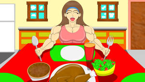 Muscle Feast: Time to Eat for Gains! by FireShock10