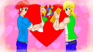 Muscular Love in Valentine's Day by FireShock10