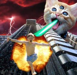 Laser Cat Attacks by Kiribbean