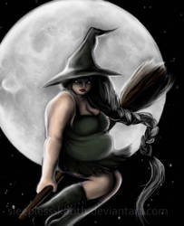 Fat: Witch by sleepless-katith
