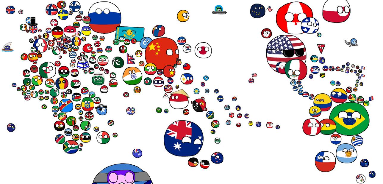 world map polandball by lobux on deviantart