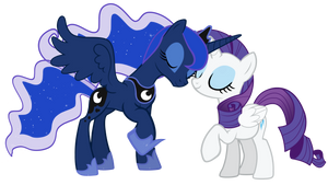 another Rarity and Luna vector