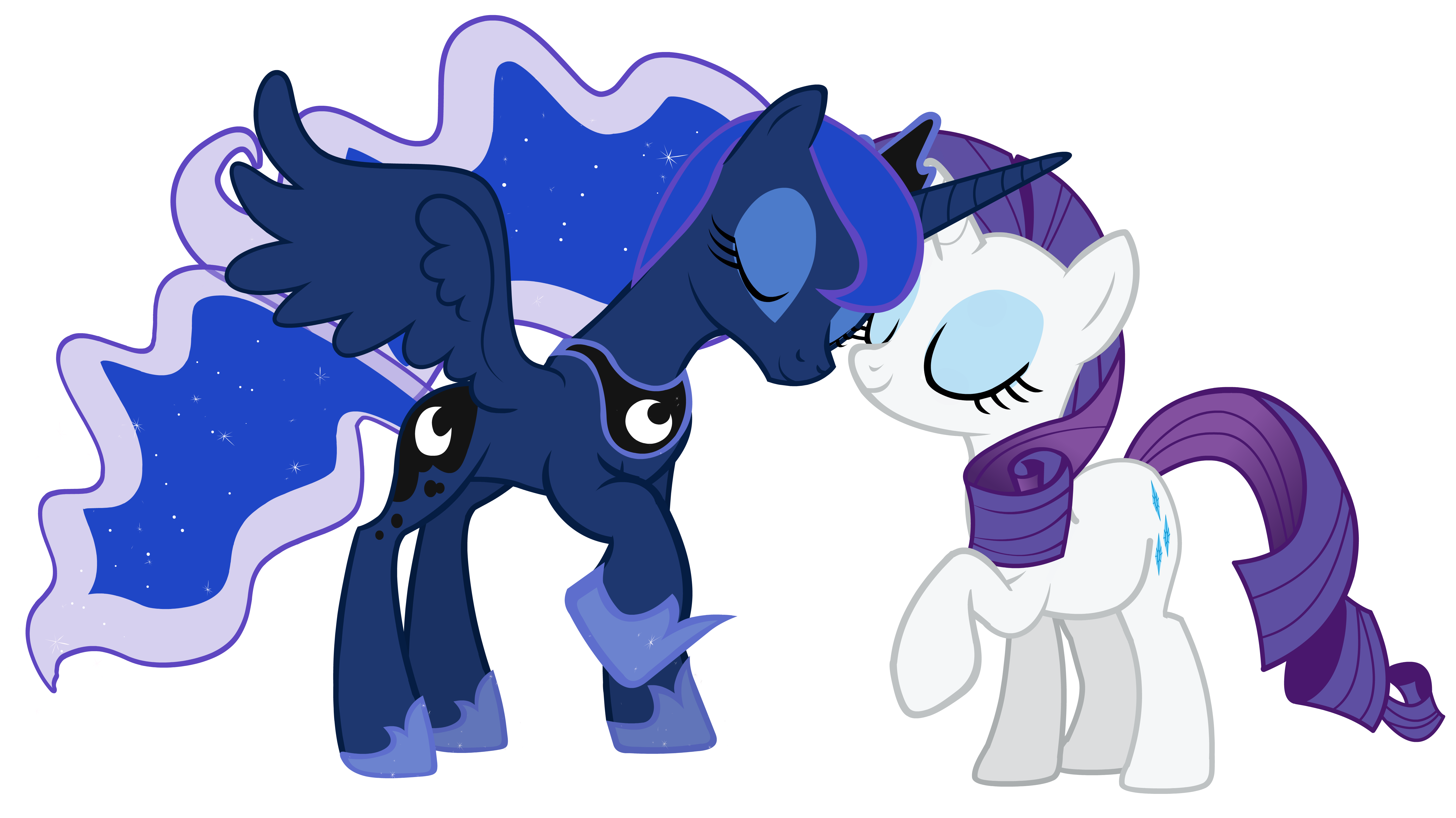 another Rarity and Luna vector by LunarMarex on DeviantArt