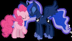 Pinkie and Luna vector by LunarMarex