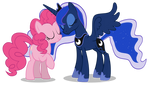 Pinkie and Luna vector