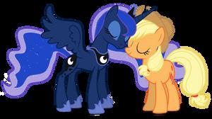 Applejack and Luna vector