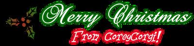 Merry Christmas from me by CoreyCorgi