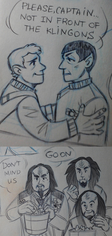 not in front of the klingons by Kethavel