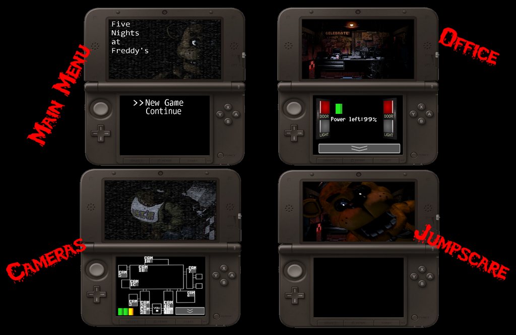 If fnaf was on the 3ds by the1996hedgehog on deviantart