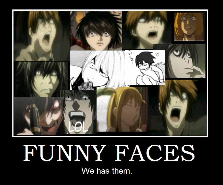 Death Note Funny Faces Sad Smile
