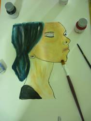 woman face by YamilyAlbrecht