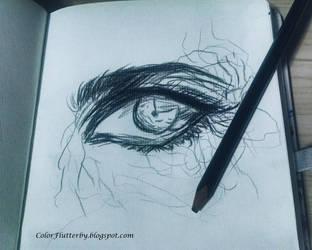 Eye in pencil by YamilyAlbrecht