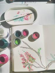 Progress: sketch time flowers by YamilyAlbrecht