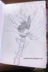 Flower Drawing by YamilyAlbrecht