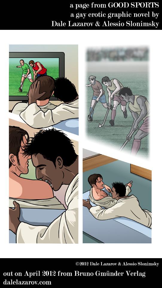 Erotic graphic novel art