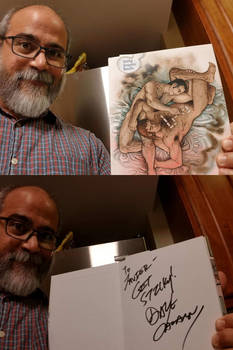 Autographed Sticky Graphic Novels available