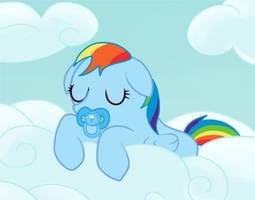 babby rainbow dash by Dunkinbean