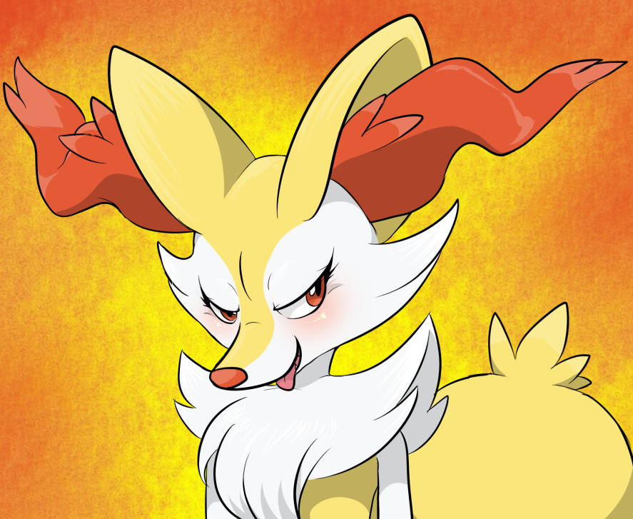 What are you doing Braixen?... by Drawdi